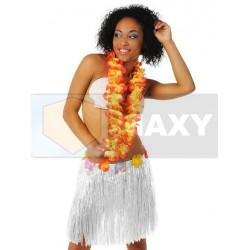 XM786 Spódnica hawajska BIAŁA