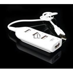 AK229A HUB 4 xUSB PODŁUŻNY 2.0 USB ROZDZIELACZ HIT
