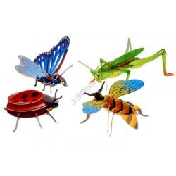 ZB229 Puzzle 3 D robaki biedronka pszczoła motyl
