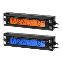 AG97 Termometr samochodowy woltomierz zegar 3w1