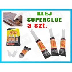 XM72 KLEJ SUPER GLUE super mocny 3szt w zestawie