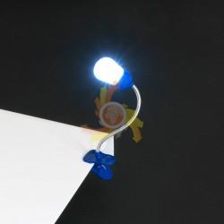 obserwuj AK55H LAMPKA z KLIPSEM 2x LED LATARKA STOŁOWA HIT