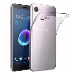 ETUI HTC DESIRE 12 Pokrowiec Guma CIENKIE + SZKŁO