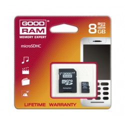 GOODRAM Karta pamięci Micro SDHC 8GB +ADAPTER MC8g