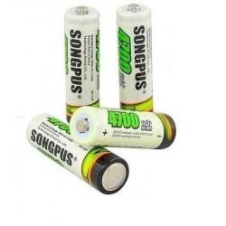 Bateria AKUMULATORKI BATERIE 4x AA R6 5500mAh BC66