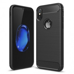 ET297c ETUI TPU CARBON APPLE IPHONE X + SZKŁO