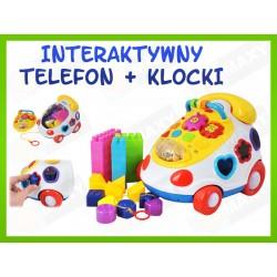 ZB131 JEŹDZIK CHODZIK INTERAKTYWNY TELEFON KLOCKI