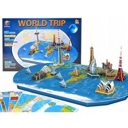 ZA1581 PUZZLE 3D Przestrzenne Ziemia mapa świata