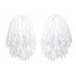 Pompony dla czirliderek CHEERLEADEREK 2 szt białe XM516
