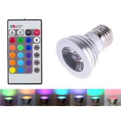 ZD7 ŻARÓWKA RGB LED 16 KOLORÓW PILOT E27