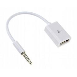 ADAPTER KABEL AUX MINI JACK 3.5 mm USB iPhone iPod