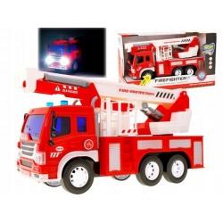 Czerwona Straż pożarna auto z dźwiękiem ZB1308