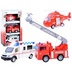 Ambulans Karetka Straż pożarna Helikopter ZESTAW ZB3261