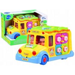 Autko Autobus Wesoły Interaktywny Kolorowy Dzieci ZB305
