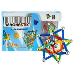 Klocki Magnetyczne 60 elementów MAGNASTIX ZB0655