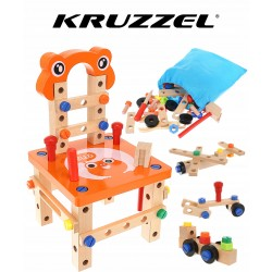 Drewniany Warsztat dla Dzieci Narzędzia Krzesło ZB185