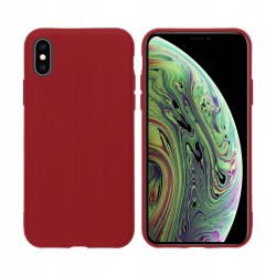 ETUI do IPHONE X/XS SOFT MATT BURGUNDOWE