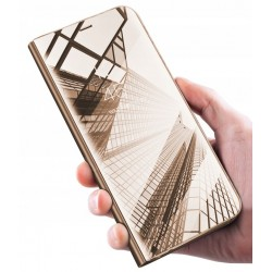 Etui do Huawei P20 Lite CLEAR VIEW ZŁOTE