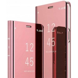 Etui do Huawei P20 Lite CLEAR VIEW RÓŻOWE