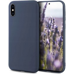 Etui do iPhone X / XS SOFT MATT GRANATOWE