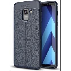 Etui do Samsung A8 2018 Litchi Pattern