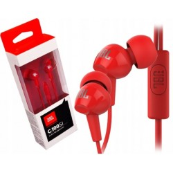 JBL1 SŁUCHAWKI JBL C100SI 3,5MM EB RED