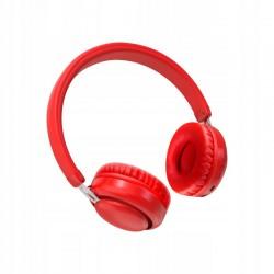 XO Słuchawki bluetooth BE10 czerwone nauszne