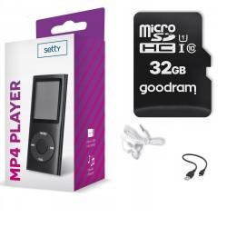 ODTWARZACZ MP4 MP3 RADIO DYKTAFON + KARTA 32GB SD