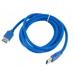 KP7 KABEL PRZEDŁUŻACZ USB 3.0 1,8 m PRZEDŁUŻKA AM