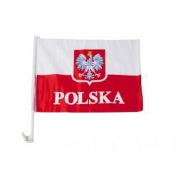 XM916 FLAGA SAMOCHODOWA Z GODŁEM POLSKI EURO 2016