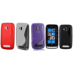 ET126S Etui Pokrowiec Guma Nokia Lumia 620 + Folia