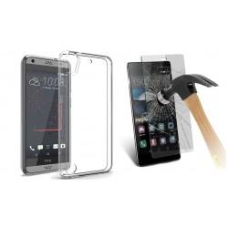 ET85ps ETUI Guma Pokrowiec HTC Desire 530 + SZKŁO