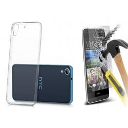 ET80ps ETUI Guma Pokrowiec HTC Desire 626 + SZKŁO