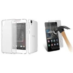 ET233ps ETUI Guma Pokrowiec HTC Desire 825 +SZKŁO