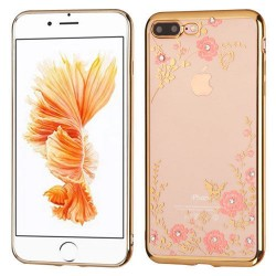 ET74k ETUI KWIATY POKROWIEC iPhone 7 7G + SZKŁO