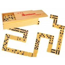 ZB238 GRA DOMINO drewniane pudełko