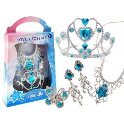ZB1720 Kraina Lodu Frozen Biżuteria Korona Elsa